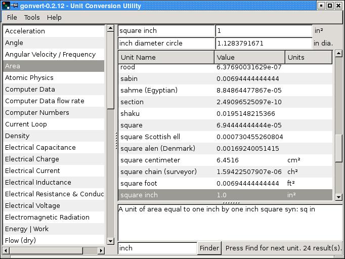 gonvert - Unit Conversion Utility